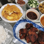 Home made nasi lemak