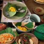 Indonesian nasi kuning dinner